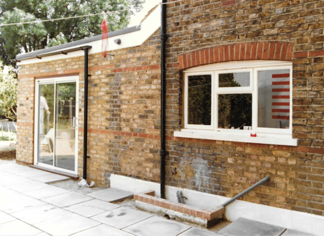 A new house extension built by Apex property services