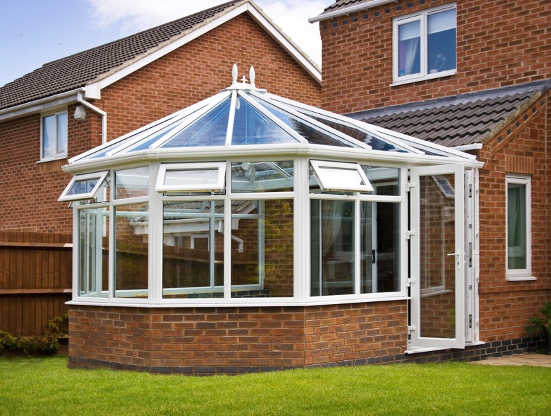 A photo of classic larhe new conservatory